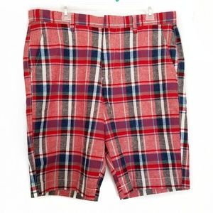 J.CREW 34 W mixed plaid linen Rivington shorts NWT